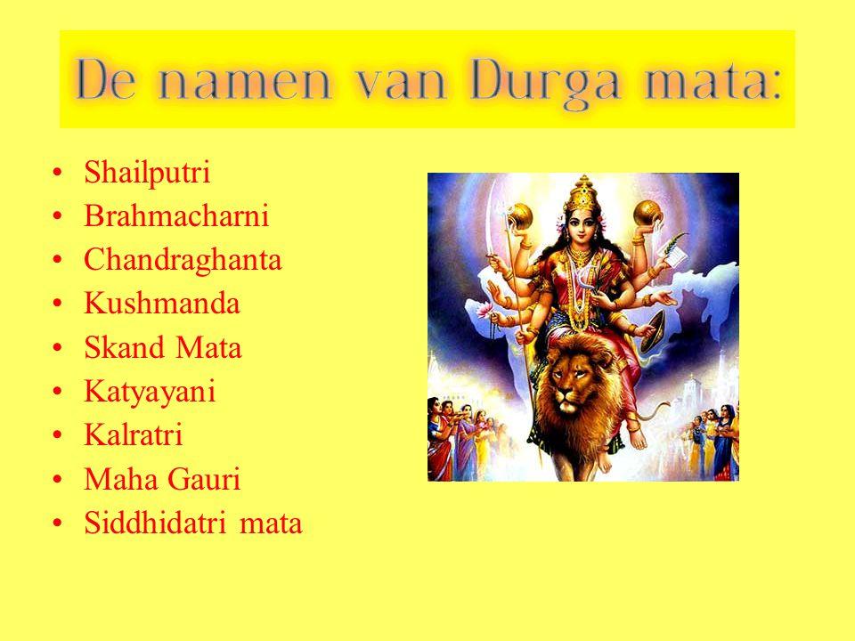 Shailputri Brahmacharni Chandraghanta Kushmanda Skand Mata Katyayani Kalratri Maha Gauri Siddhidatri mata