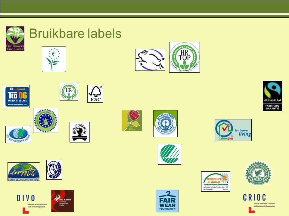Bruikbare labels