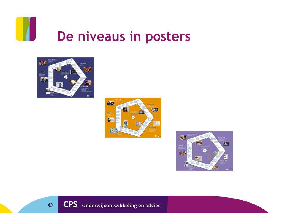 De niveaus in posters