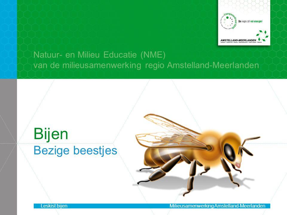 Bijen Bezige beestjes Natuur- en Milieu Educatie (NME) van de milieusamenwerking regio Amstelland-Meerlanden Leskist bijenMilieusamenwerking Amstelland-Meerlanden