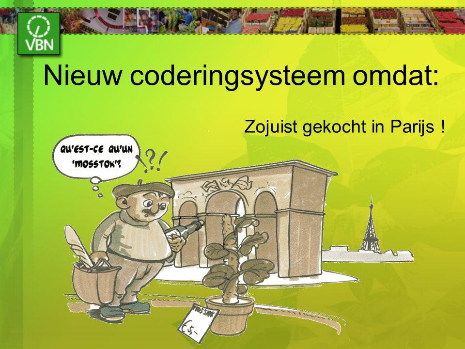 Nieuw coderingsysteem omdat: Zojuist gekocht in Parijs !