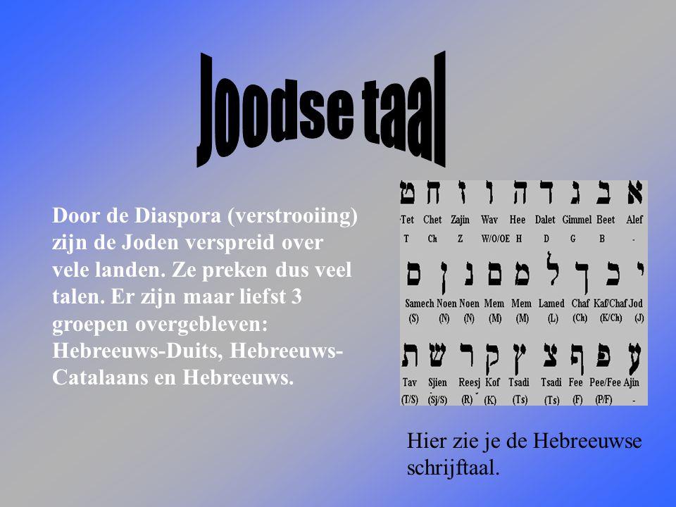 Door de Diaspora (verstrooiing) zijn de Joden verspreid over vele landen.
