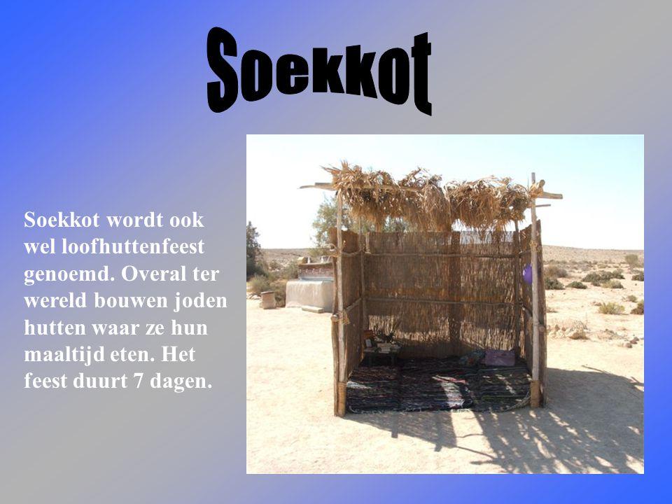 Soekkot wordt ook wel loofhuttenfeest genoemd.