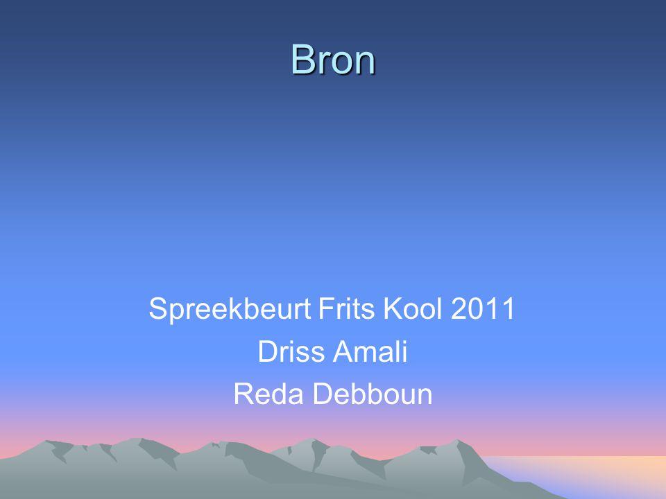 Bron Spreekbeurt Frits Kool 2011 Driss Amali Reda Debboun