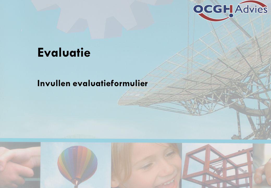 Evaluatie Invullen evaluatieformulier