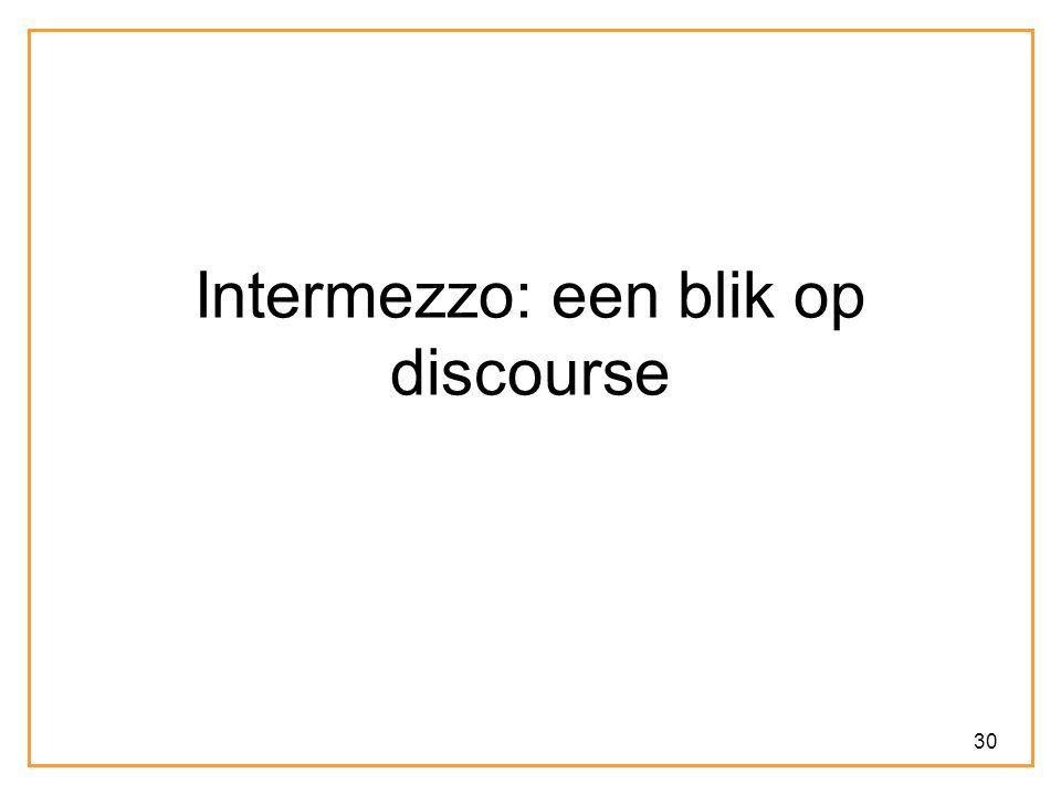 30 Intermezzo: een blik op discourse