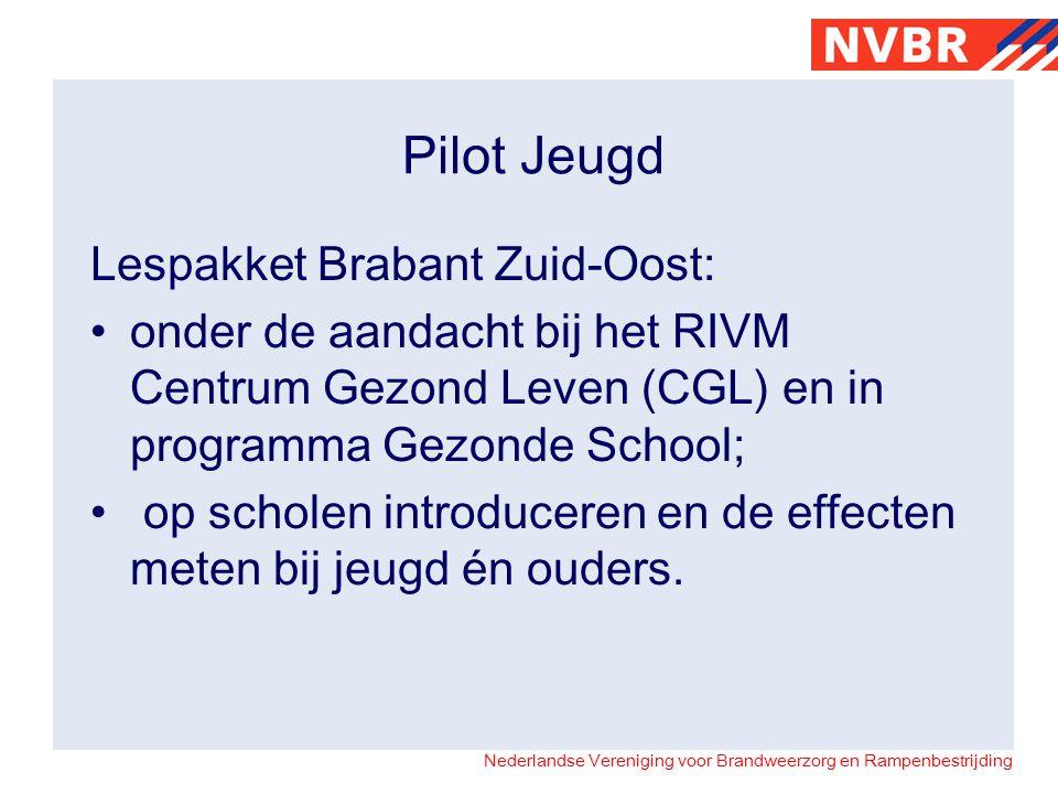Nederlandse Vereniging voor Brandweerzorg en Rampenbestrijding Pilot Jeugd Lespakket Brabant Zuid-Oost: onder de aandacht bij het RIVM Centrum Gezond