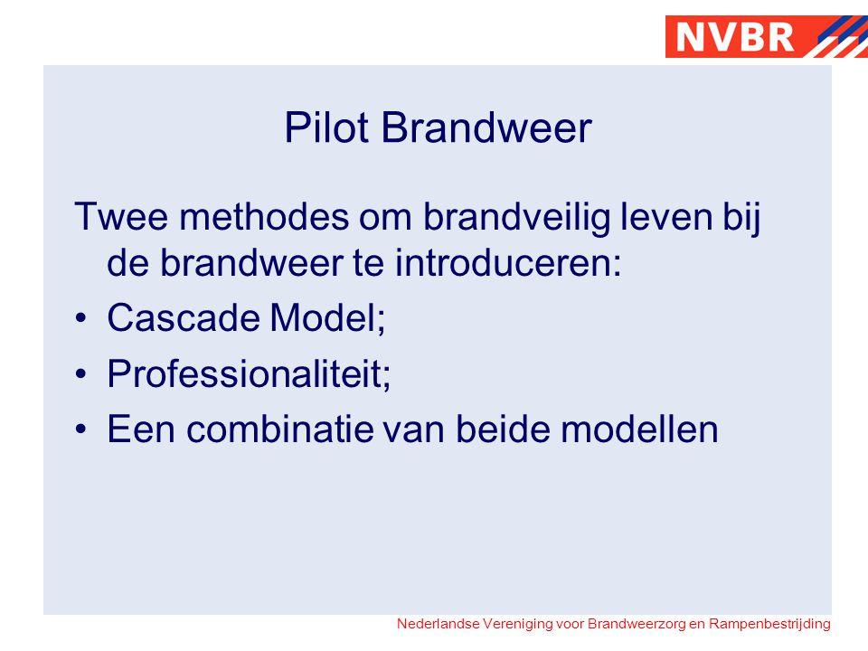 Nederlandse Vereniging voor Brandweerzorg en Rampenbestrijding Pilot Brandweer Twee methodes om brandveilig leven bij de brandweer te introduceren: Ca
