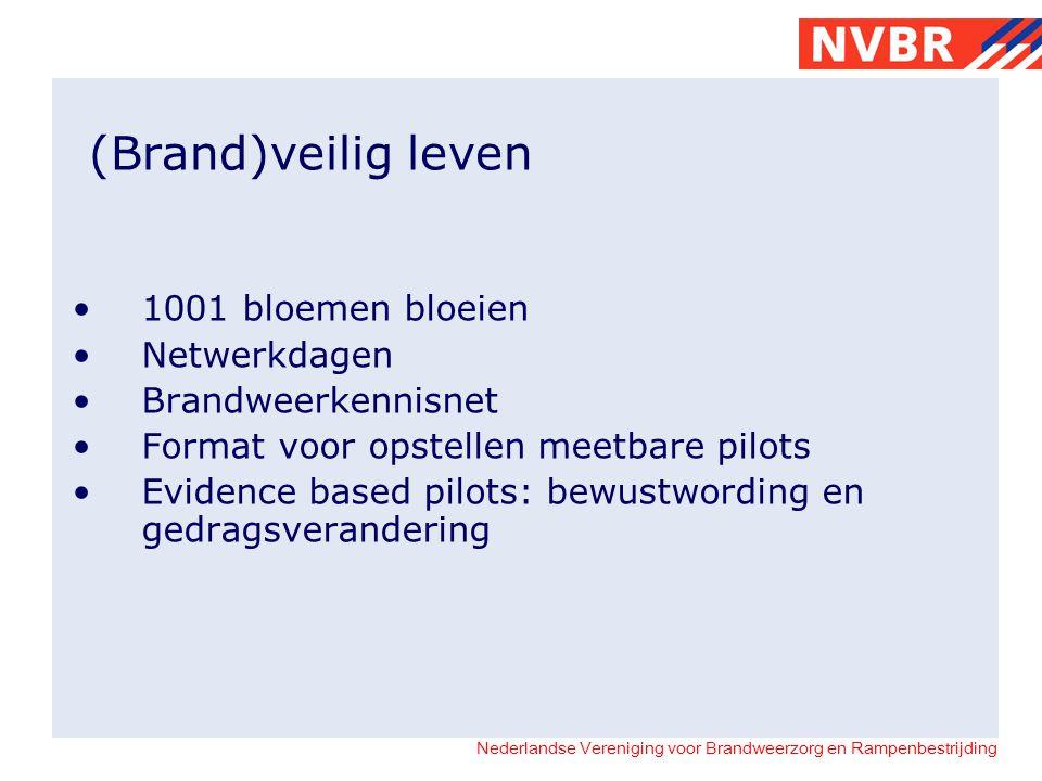 Nederlandse Vereniging voor Brandweerzorg en Rampenbestrijding (Brand)veilig leven 1001 bloemen bloeien Netwerkdagen Brandweerkennisnet Format voor op