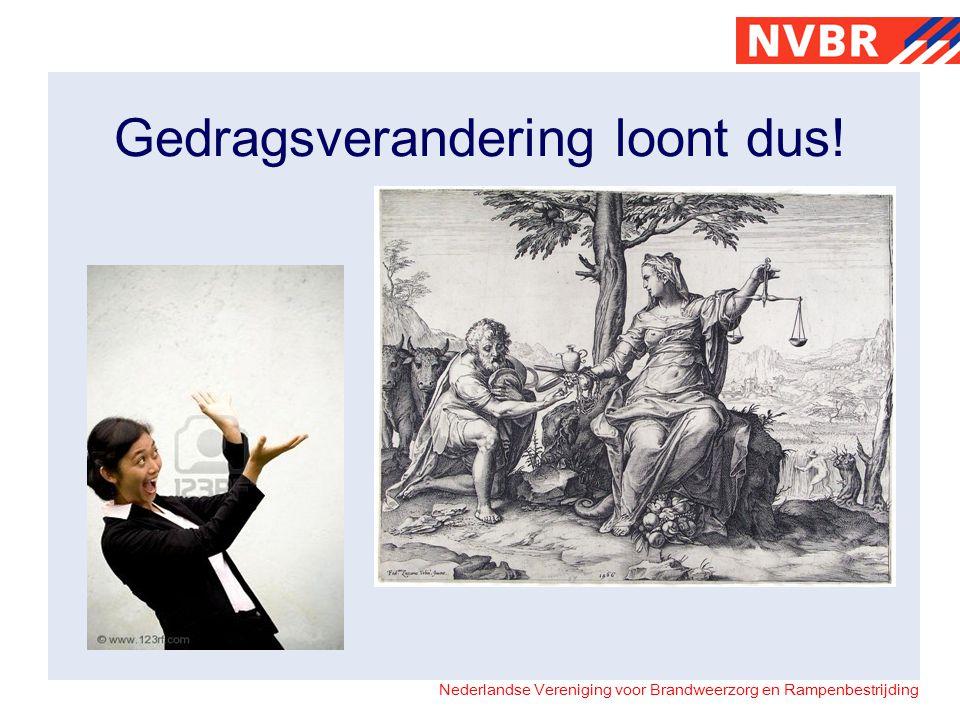 Nederlandse Vereniging voor Brandweerzorg en Rampenbestrijding Gedragsverandering loont dus!