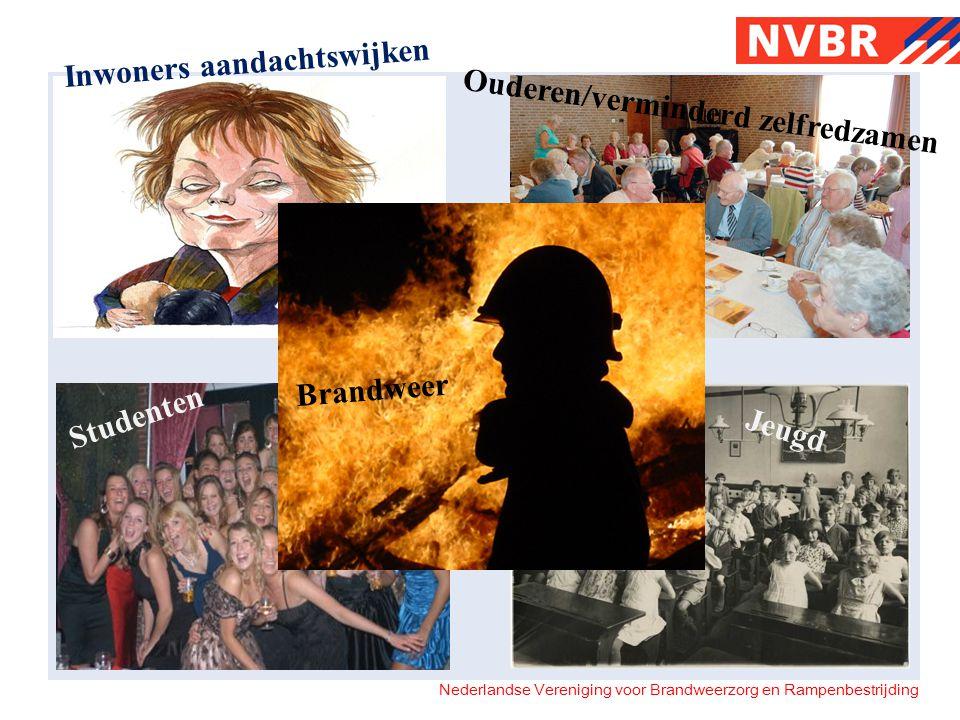 Nederlandse Vereniging voor Brandweerzorg en Rampenbestrijding Inwoners aandachtswijken Ouderen/verminderd zelfredzamen Studenten Jeugd Brandweer