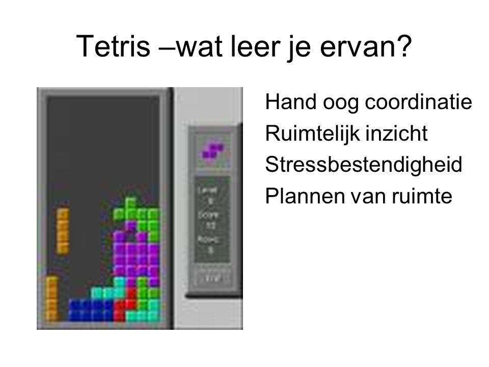 Tetris –wat leer je ervan.