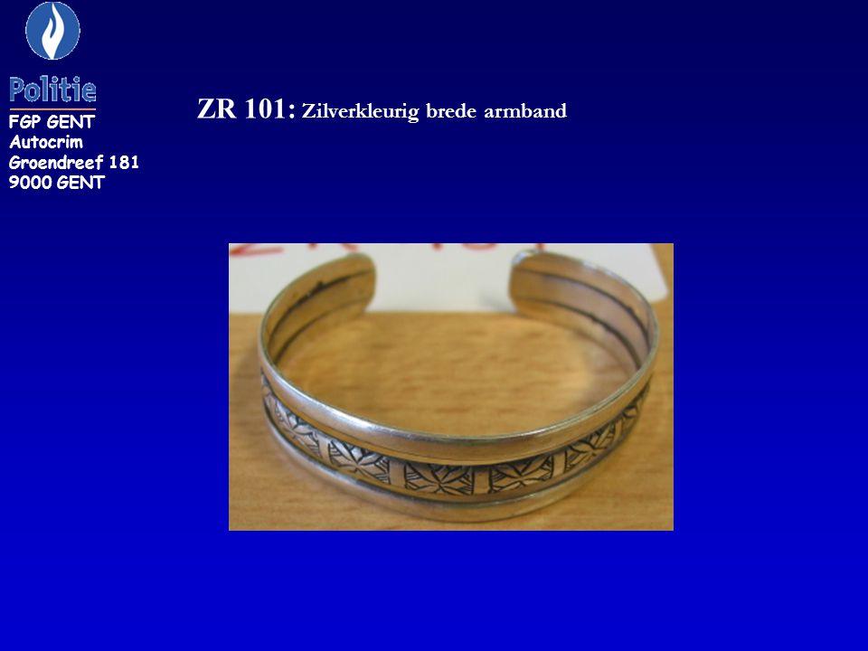 ZR 103: armband met rode steentjes FGP GENT Autocrim Groendreef 181 9000 GENT