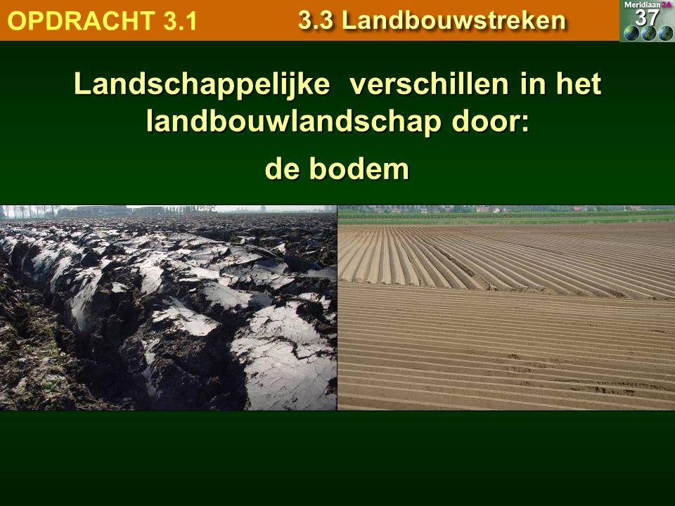 de bodem 7.1.1 Natuurlandschappen OPDRACHT 3.1 3.3 Landbouwstreken 37