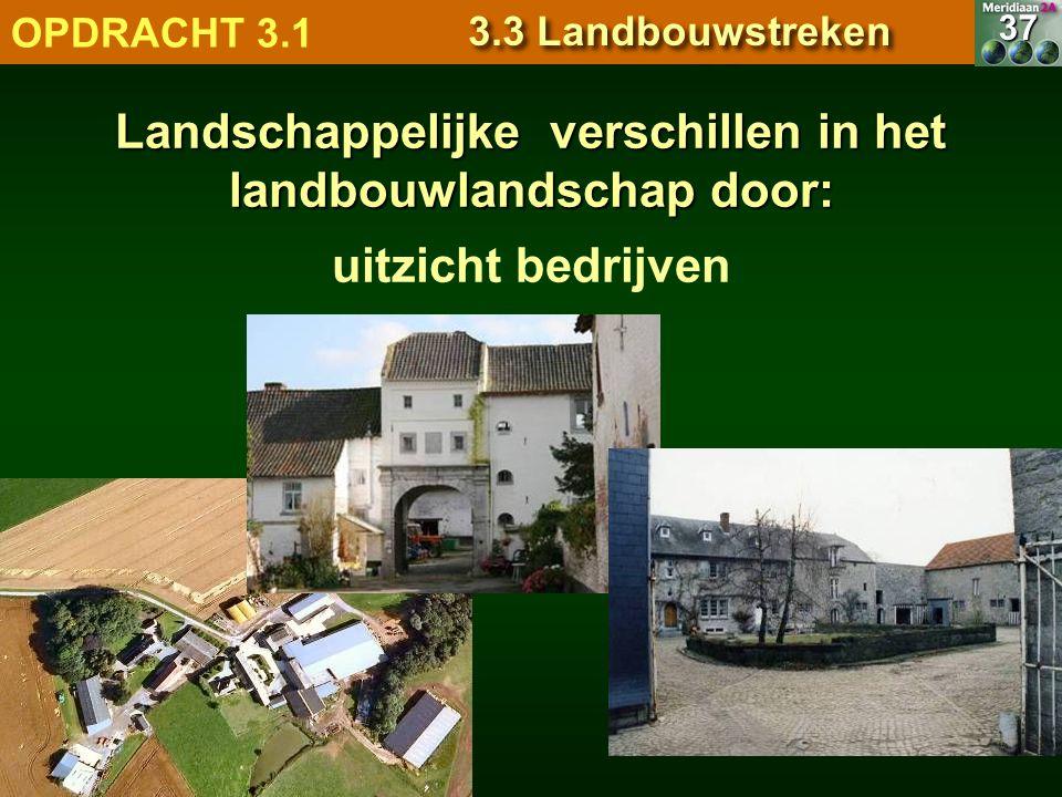 uitzicht bedrijven 7.1.1 Natuurlandschappen OPDRACHT 3.1 3.3 Landbouwstreken 37 Landschappelijke verschillen in het landbouwlandschap door: