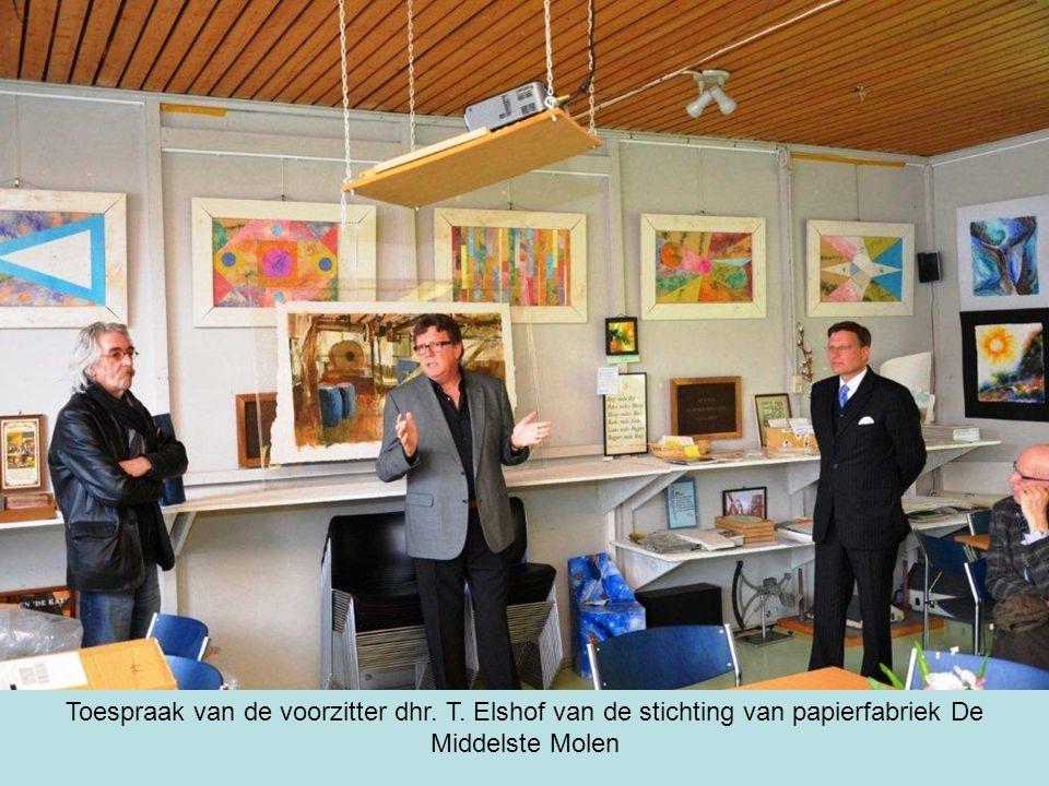 Toespraak van de voorzitter dhr. T. Elshof van de stichting van papierfabriek De Middelste Molen