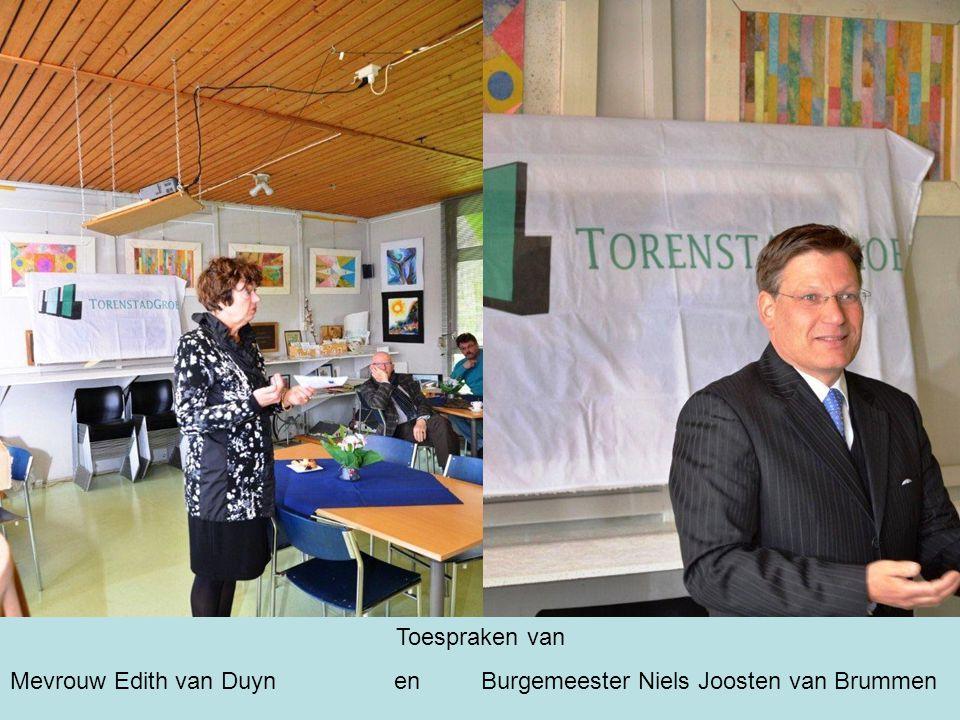 Toespraken van Mevrouw Edith van Duynen Burgemeester Niels Joosten van Brummen