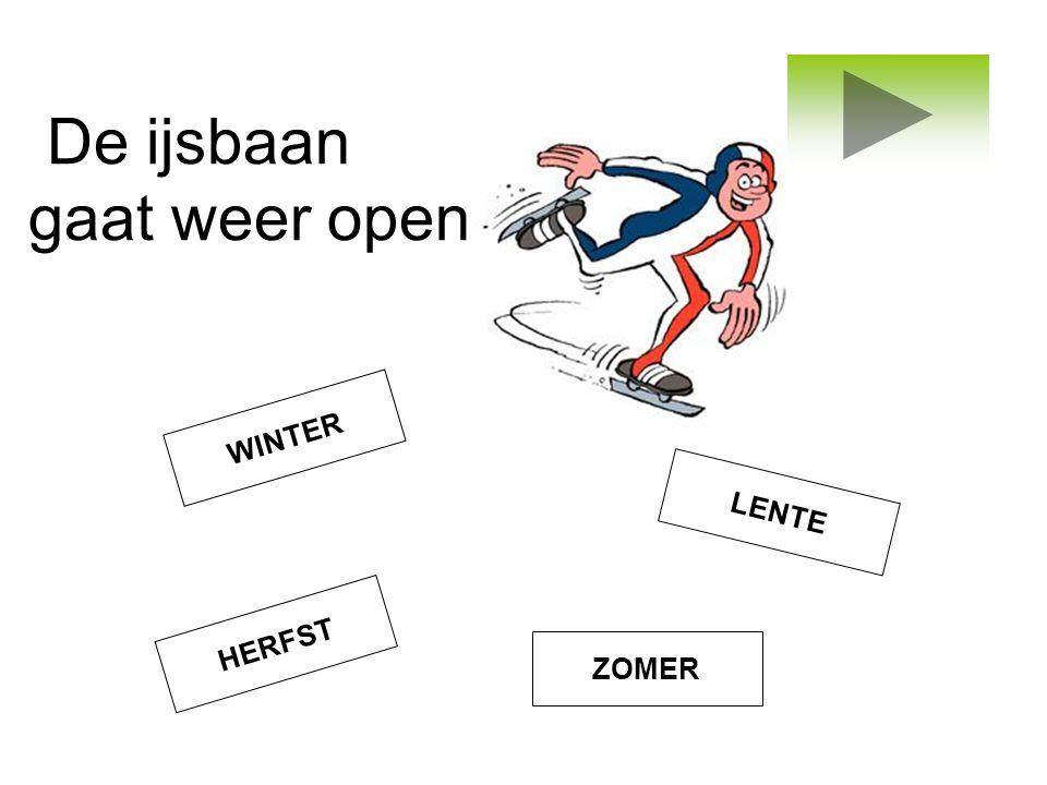 De ijsbaan gaat weer open WINTER HERFST ZOMER LENTE