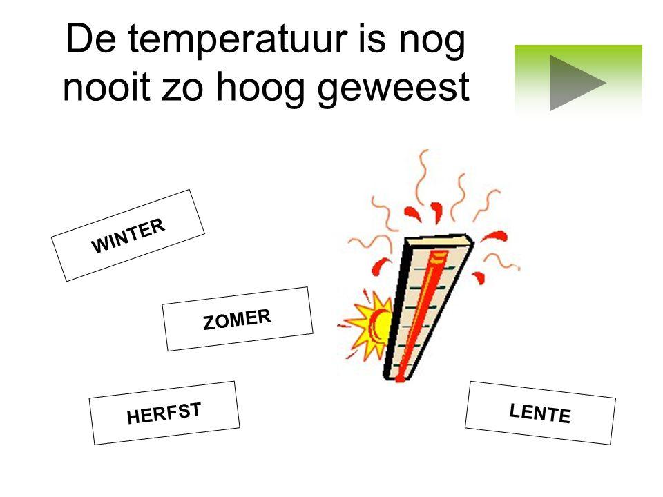 De temperatuur is nog nooit zo hoog geweest ZOMER LENTE WINTER HERFST