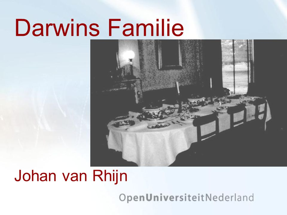 Darwins Familie Johan van Rhijn