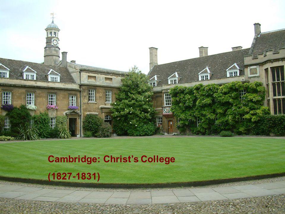 Cambridge: Christ's College (1827-1831)