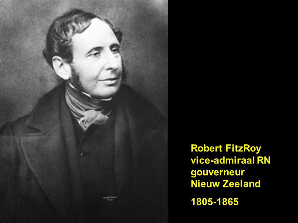 Robert FitzRoy vice-admiraal RN gouverneur Nieuw Zeeland 1805-1865