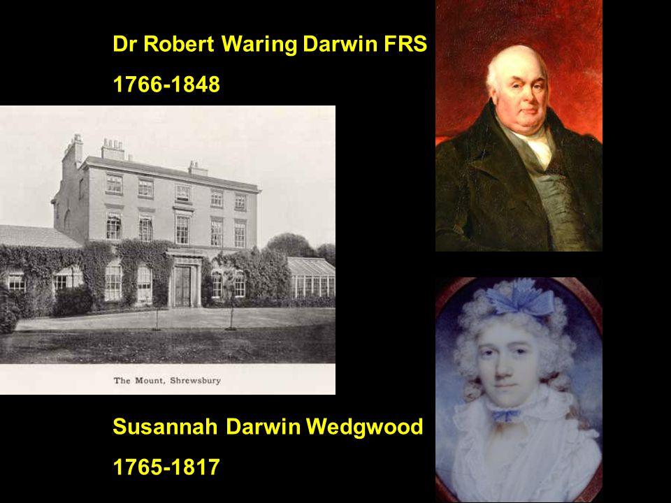 Dr Robert Waring Darwin FRS 1766-1848 Susannah Darwin Wedgwood 1765-1817