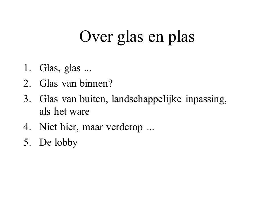 Over glas en plas 1.Glas, glas...2.Glas van binnen.