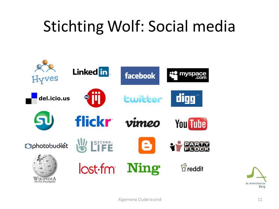 Stichting Wolf: Social media 11Algemene Ouderavond