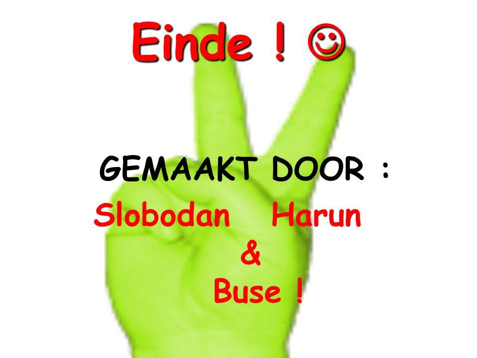 Einde ! Einde ! GEMAAKT DOOR : Slobodan Harun & Buse !