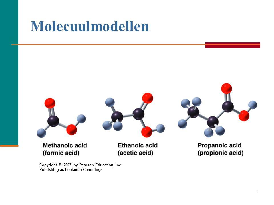 13 Naamgeving Esters alcoholzuur O methyl  CH 3 — O—C —CH 3 ethanoaat (acetaat) IUPAC: methyl ethanoaat common: methyl acetaat