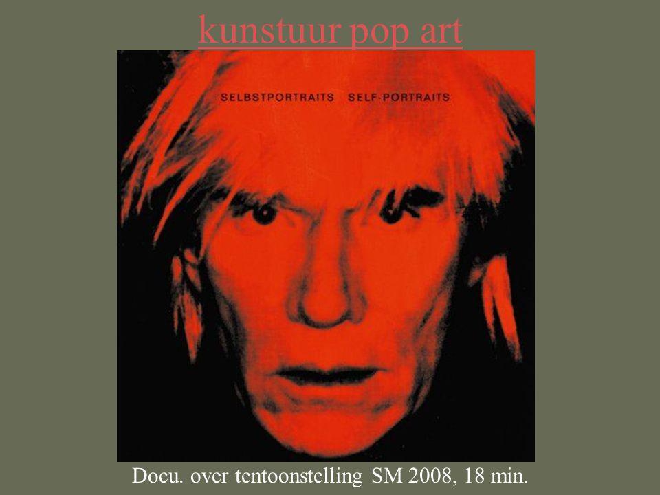 kunstuur pop art Docu. over tentoonstelling SM 2008, 18 min.