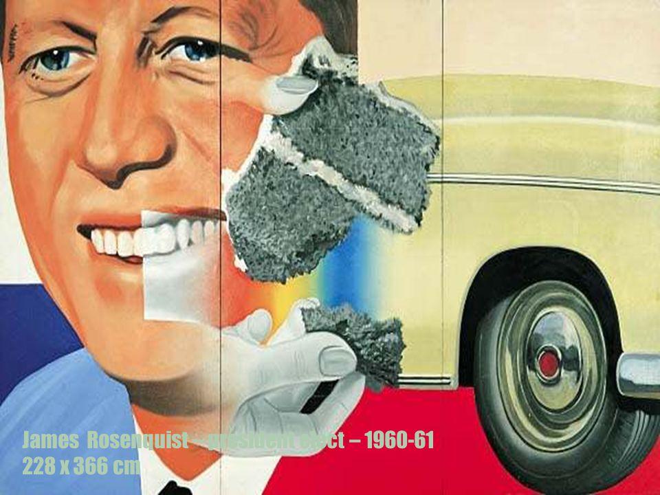 James Rosenquist – president elect – 1960-61 228 x 366 cm