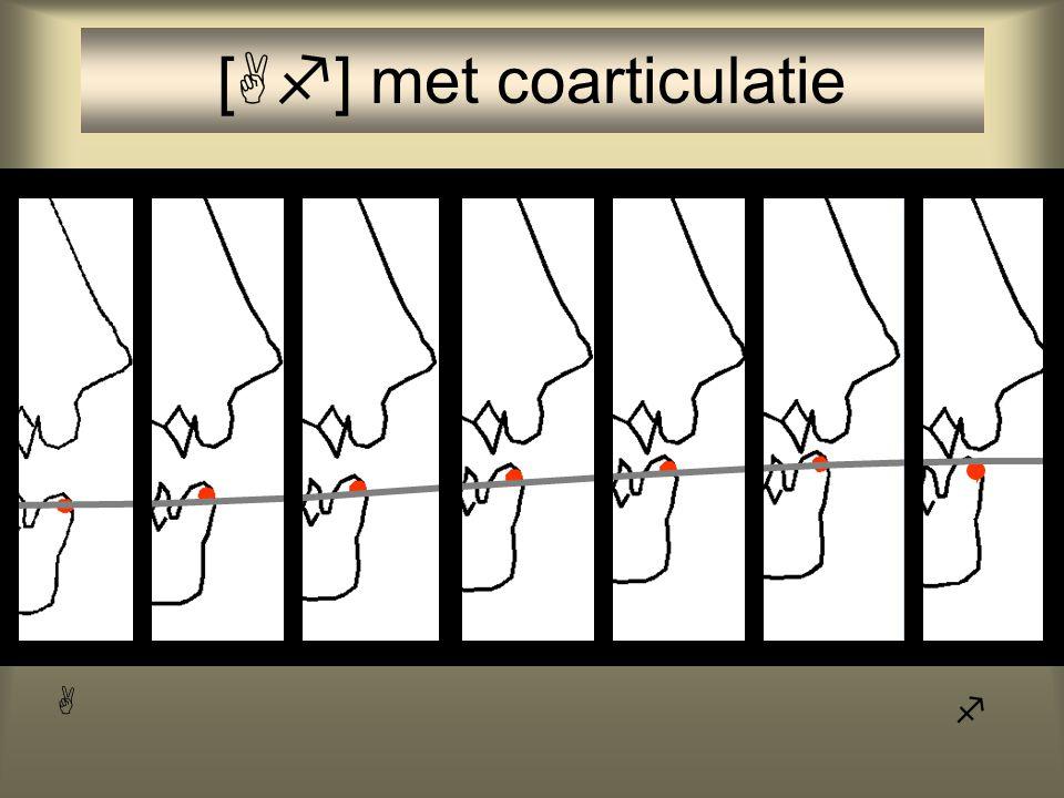 [  ] zonder coarticulatie 