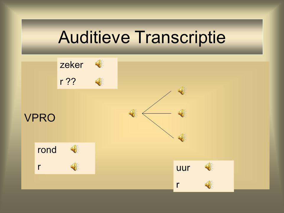 Auditieve Transcriptie Reclametekst VPRO Hoeks dialect