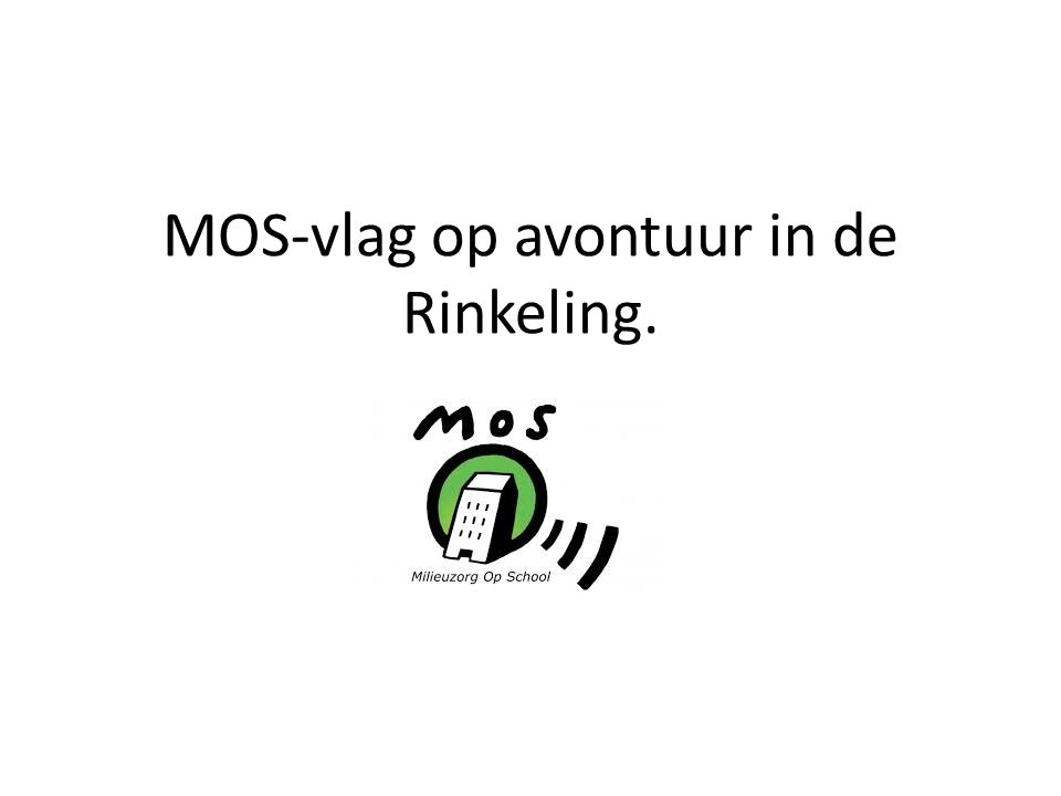 MOS-vlag op avontuur in de Rinkeling.