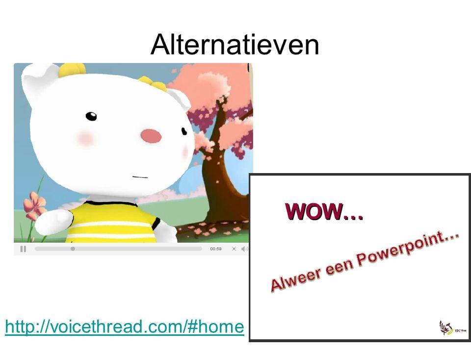 Alternatieven http://voicethread.com/#home