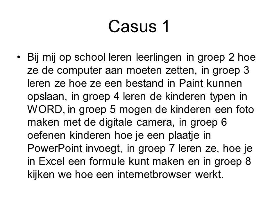 Casus 2 Bij mij op school zijn de leerlingen in groep 2 bezig met hun eigen letter.