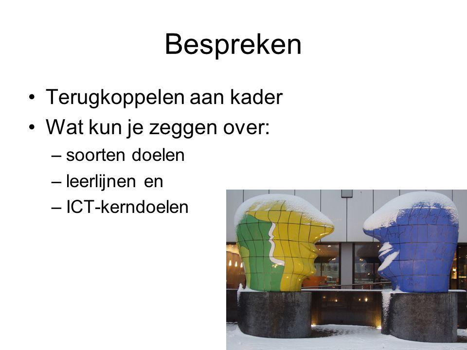 Zelf aan de slag Schrijf over: –Eigen ideeën over ICT inzetten in je les in maximaal 10 zinnen.