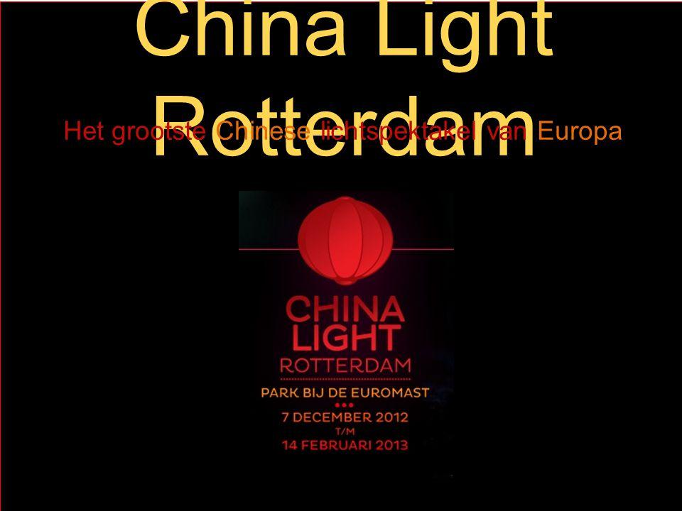 China Light Rotterdam Het grootste Chinese lichtspektakel van Europa