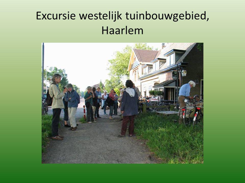 Excursie westelijk tuinbouwgebied, Haarlem