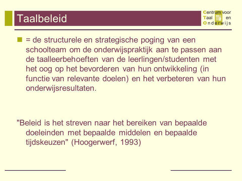 Nog meer valse tegenstellingen Nederlands of andere talen.