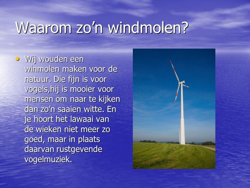 Waar kan onze windmolen het best staan.