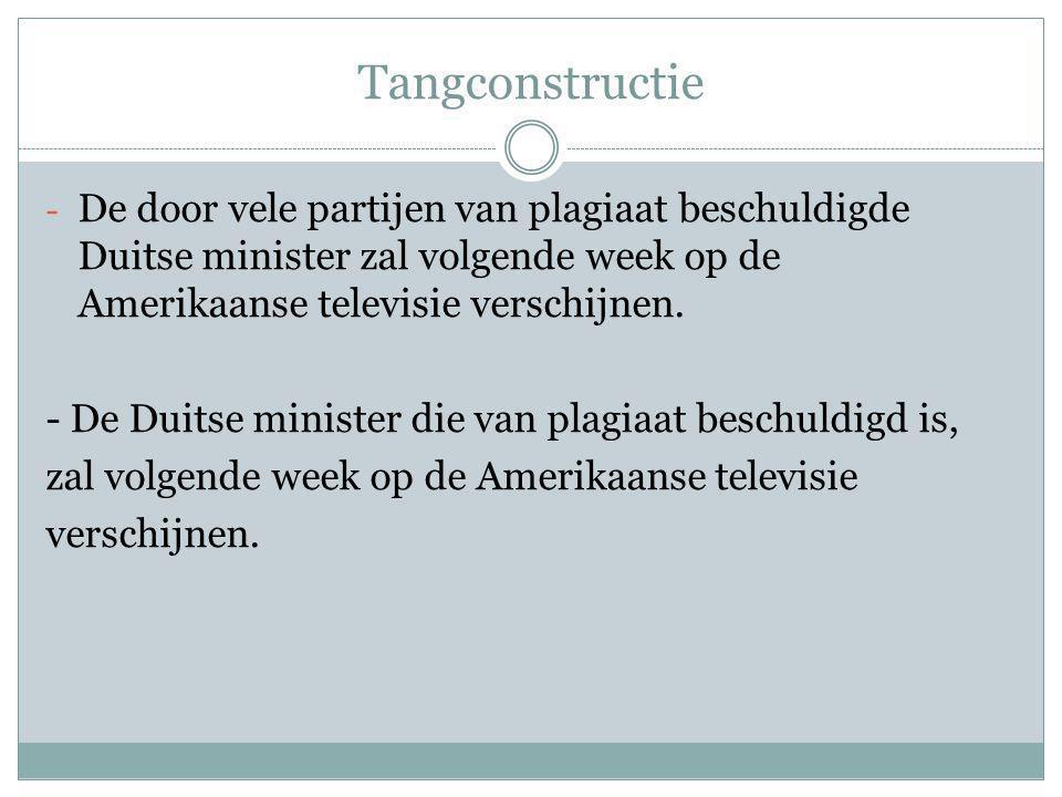 Tangconstructie - De door vele partijen van plagiaat beschuldigde Duitse minister zal volgende week op de Amerikaanse televisie verschijnen.