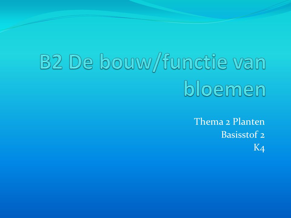 Thema 2 Planten Basisstof 2 K4