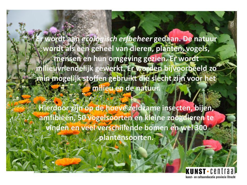 Er wordt aan ecologisch erfbeheer gedaan.