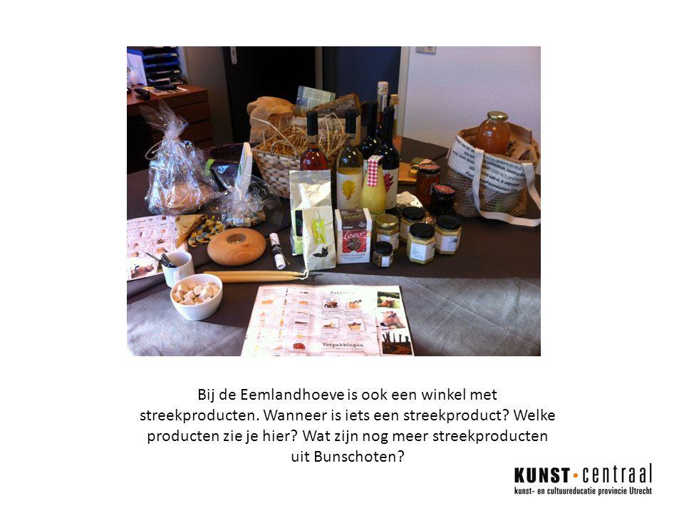 Bij de Eemlandhoeve is ook een winkel met streekproducten.