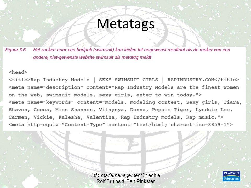 Metatags Informatiemanagement 2 e editie Rolf Bruins & Bert Pinkster
