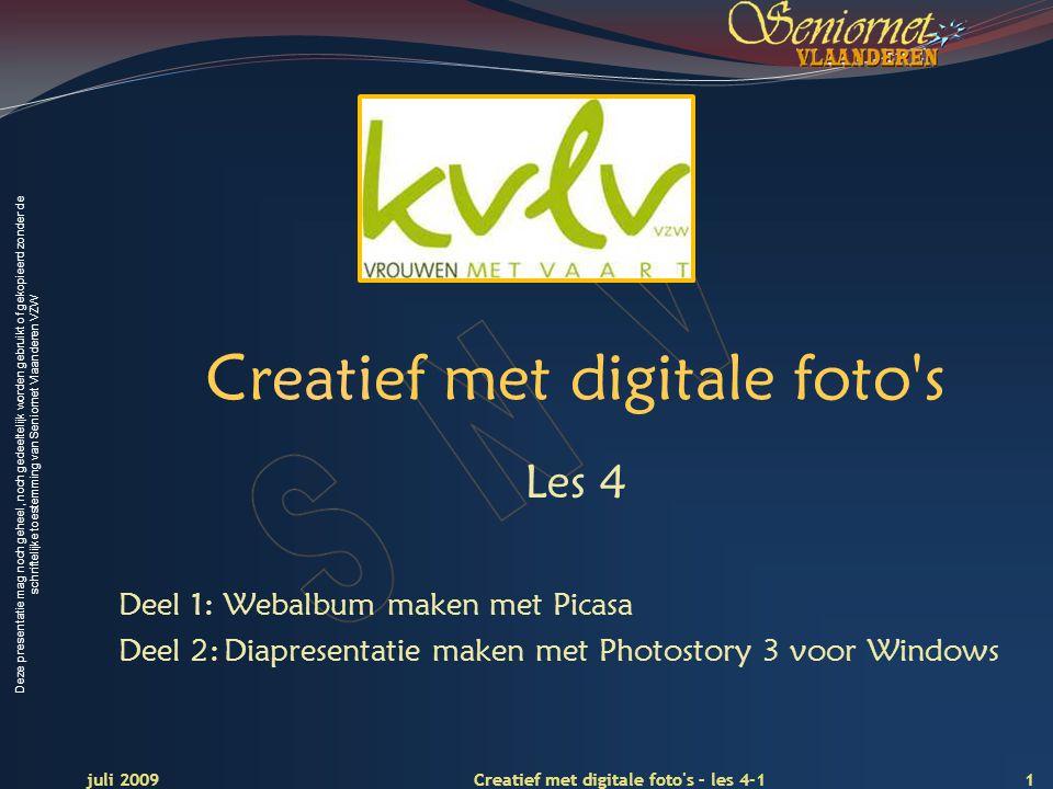 Deze presentatie mag noch geheel, noch gedeeltelijk worden gebruikt of gekopieerd zonder de schriftelijke toestemming van Seniornet Vlaanderen VZW Cre