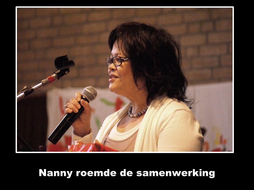 Nanny roemde de samenwerking